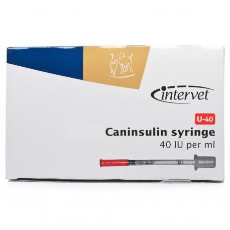 Seringues Caninsulin 40-UI pour chiens et chats