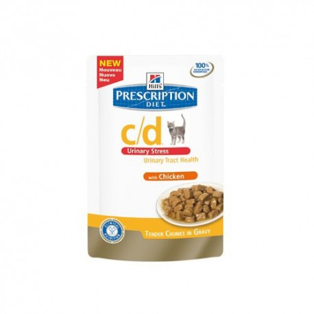 Hill's Prescription Diet c/d Feline Urinary Stress Sachets Fraicheurs Poulet