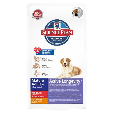 Hill's Science Plan Canine Mature Adult 7+ Medium Chicken