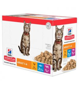 Hill's Science Plan Chat Adulte Multipack Sachets Repas