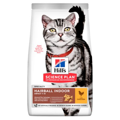 Hill's Science Plan Chat Adulte Hairball Indoor