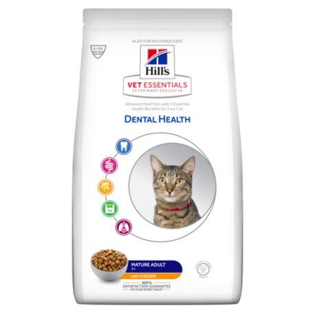 Hill's VetEssentials Dental Health Feline Mature Adult - Croquettes